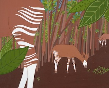 stripes okapi